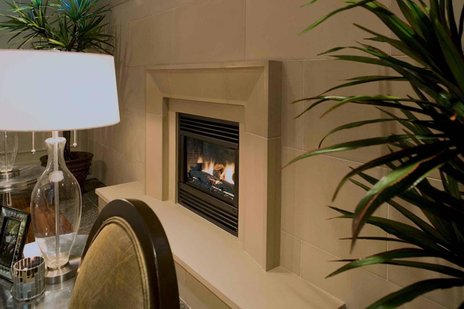 Solus Taper concrete fireplace surround